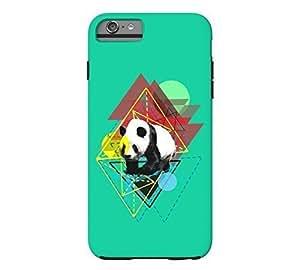 Adventurous Panda iPhone 4s Caribbean green Tough Phone Case