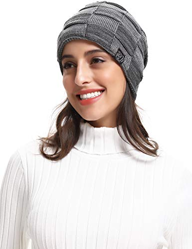 - RIZUIEI Slouchy Beanie Hat for Men and Women Winter Warm Hats Knit Thick Cap,4 Color(Grey)