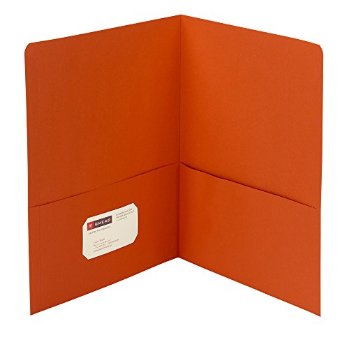 Smead Two-Pocket Heavyweight Folder, Letter Size, Orange, 25 per Box (87858) ()