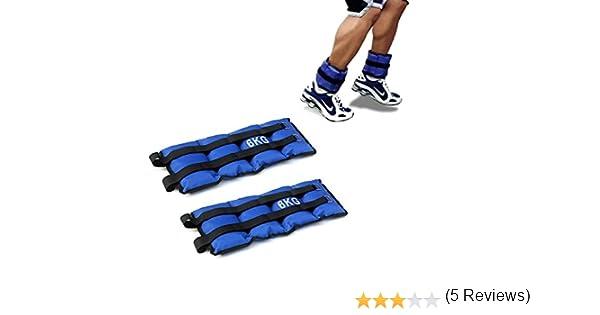 Pack de dos pesas de 6 Kilos para tobillos y/o muñecas para correr o gimnasio: Amazon.es: Deportes y aire libre