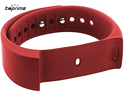 Toprime®Replacement Wristband Bracelet for I5 Plus Fitness Tracker,1 Piece,Red