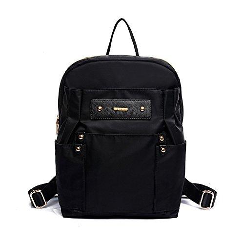 FTSUCQ Womens Waterproof Backpack Travel Daypack Tote School Bags Shoulder Black Satchels