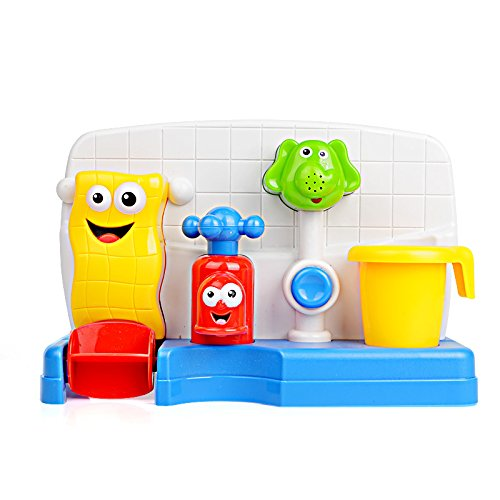 Price comparison product image FUNTOK Creative Cartoon Portable Bath Tub Toy Water Sprinkler System With Sucker Early Education Interactive Bathroom Toys