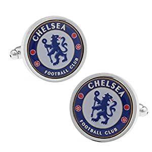 - Chelsea Football Club Cufflinks - Men's French Cuff-Link for Wedding, Formal, Birthday, Graduation, Christmas, Father Day, Groom, Best Man, business attire shirt + Free Deluxe Cufflinks Gift Box