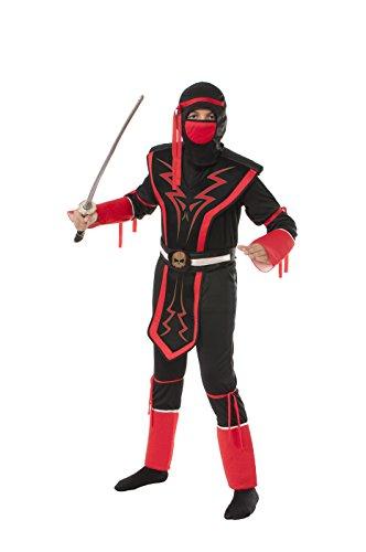 Rubie's Red and Black Skull Ninja Costume, (Skull Fairy Halloween Costume)