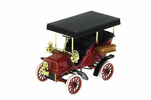 1904 Cadillac Model B Diecast Car, Red & Black, 1:32 Scale