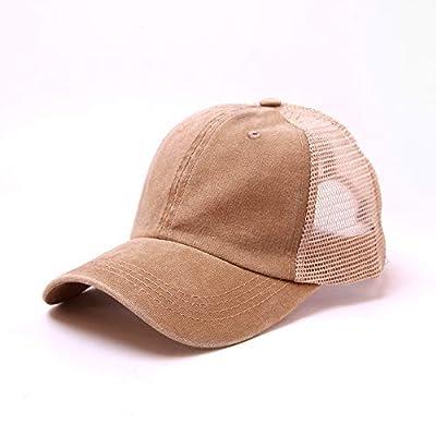 Unisex Women Men Summer Adjustable Vintage Washed Baseball Visors Cap Low Profile Cotton Denim Cool Sun Hat for Men Women Youth