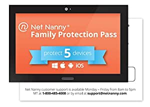 Net Nanny 5-Device Family Protection Pass - Parental Control Software and Internet Filter for Mobile and Social Media