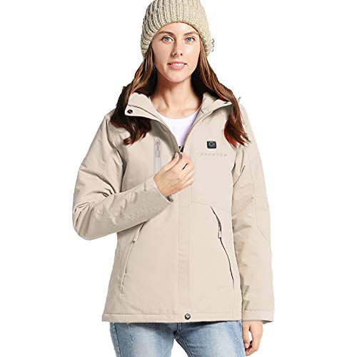 Venustas Women's Heated Jacket Winter Jacket with Hood Waterproof& Windproof