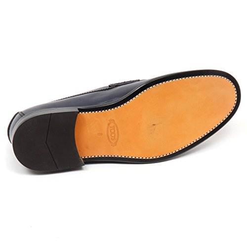 Vintage Effect Mocassino Shoe Uomo E7890 Loafer Grigio Blu Man Tod's Scarpe Blu Grey 601RxxY