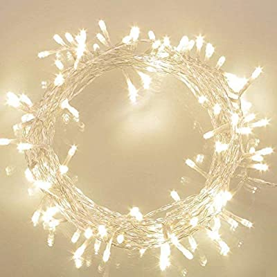 Koopower 36ft 100 LED Battery Operated String Lights with Timer on 11M Outdoor Clear String Lights(8 Modes, IP65 Waterproof, Dimmable, Warm White)