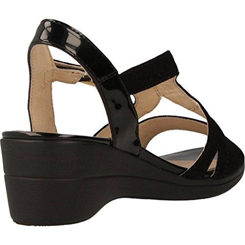 Chanclas 5 III chanclas de Sandalias Y color y Mujer Para STONEFLY para VANITY modelo Piel marca Sandalias mujer cm Negro Tacon STONEFLY RaaPBwqx