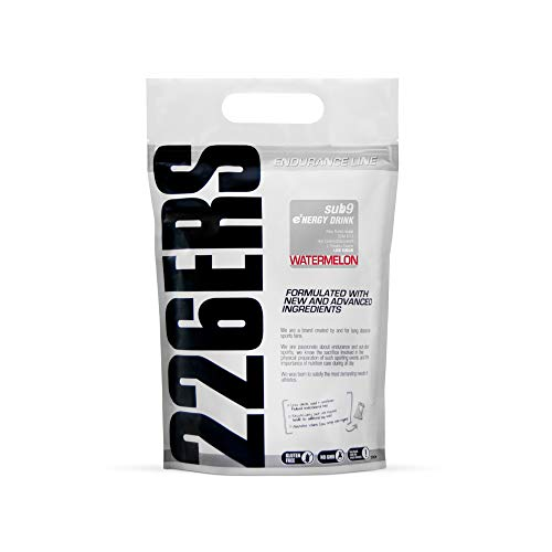 226ers SUB9 Watermelon Energy & Endurance Drink 1kg (2.2lbs). Designed for Endurance Athletes & Athletic Performance. Pro & Age Group Ironmen, Ironwomen, Runners, Cyclists & Swimmers.