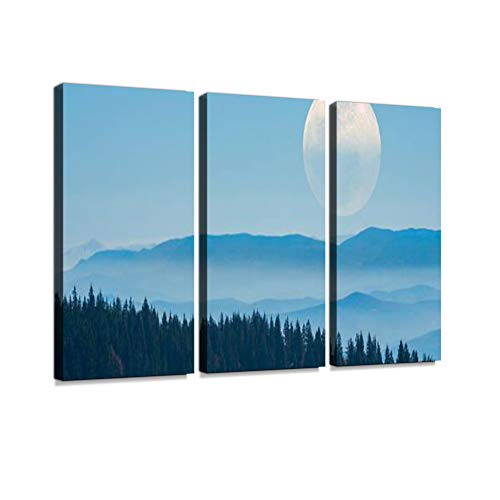 Harvest Moon Print On Canvas Wall Artwork Modern Photography Home Decor Unique Pattern Stretched and Framed 3 Piece - Harvest Moon Artwork