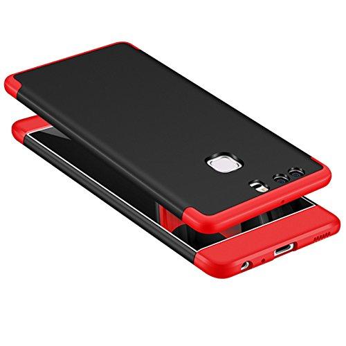 Huawei P9 Funda, Vandot Hybrid Diseño 3 en 1 Cáscara Dura de la PC Recubrimiento Metálico Marco Chapado Matte de Lujo Hard Caja de Telefono Duro Protección Cubierta Case Cover para Huawei P9, Plata QBHD PC -4