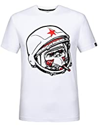 "<span class=""a-offscreen"">[Sponsored]</span>Funny Monkey With Helmet Novelty Cool Graphic Fashion T-Shirt For Men Short Sleeve Crew Neck Tees"