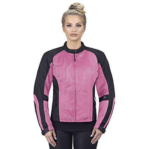 Viking Cycle Warlock Women's Mesh Motorcycle Jacket (Pink, X-Large)