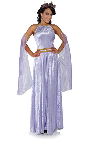 (Underwraps Costumes Women's Medieval Renaissance Princess Costume - Lady in Waiting, Lavender,)