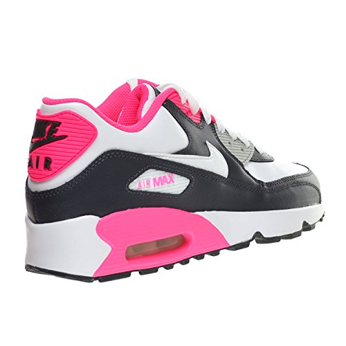 new concept 7118f 57611 Nike Air Max 90 LTR (GS) Big Kid s Shoes Anthracite White Hyper Pink ...