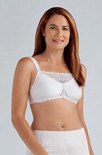 Amoena Women's Dana Camisole Wire-Free Bra, White, 44C