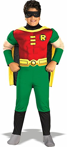 [Teen Titan Robin Costume - Toddler Costume deluxe - Toddler] (Teen Titan Robin Costumes)