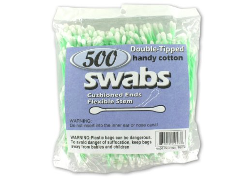 Double-tipped cotton swabs - Pack of 96 by bulk buys