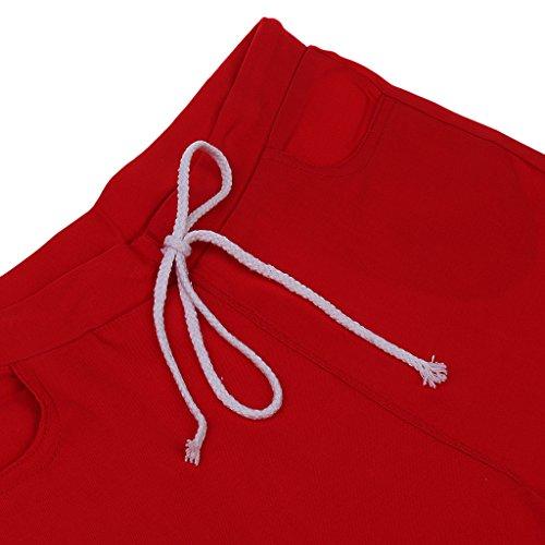 S Crayon Cargo Décontracté Coloré Rouge xxl poches Stretch Tenue Femmes Pantalons Vêtement Multi OqxzwCg