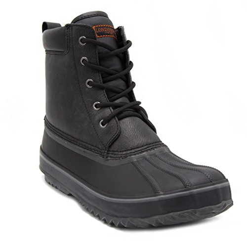 London Fog Mens Ashford Waterproof and Insulated Duck Boot Black 10 M US