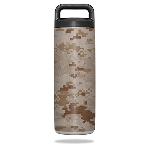 MightySkins Skin Compatible with YETI Rambler Bottle 18 oz wrap Cover Sticker Skins Desert Camo ()