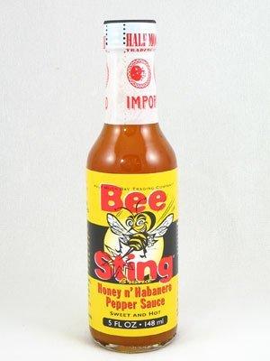 3 BOTTLES! Bee Sting Honey & Habanero Hot Sauce, 5oz.