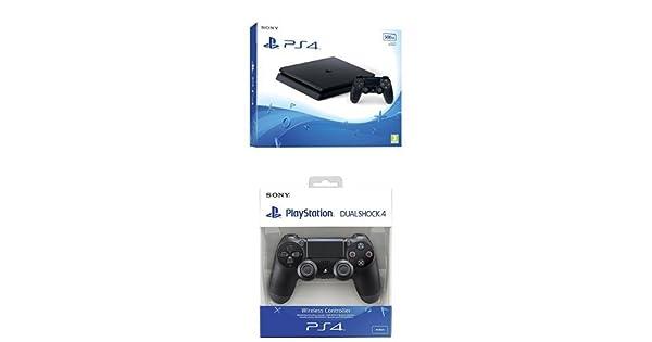 PlayStation 4 Slim (PS4) - Consola de 500 GB + DualShock 4 Negro V2 adicional: Amazon.es: Videojuegos
