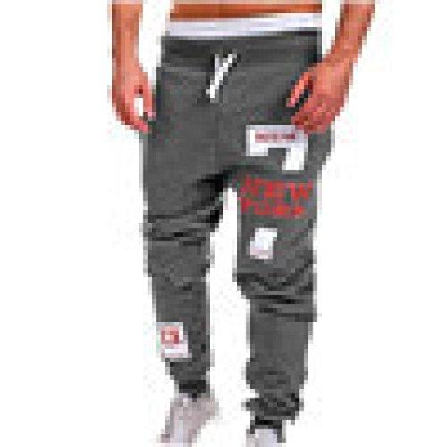 Clearance Sale  Men Pants Weuie Mens Fashion Trousers Men Pants Casual Pants Sweatpants  44 Waist  Dark Gray