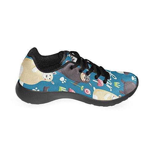 Chaussures De Course Womensprintprint Jogging Sports Légers Marchant Athlétisme Sneaker Multi 4