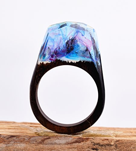 Heyou Love Handmade Wood Resin Ring With Secret Sky Landscape Inside Jewelry by Heyou Love (Image #6)