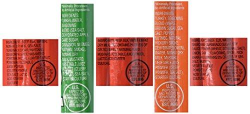 OSTRIM HIGH PROTEIN Snack Stick Sampler Set - Turkey, Elk & Beef Jerky Sampler 10 pack