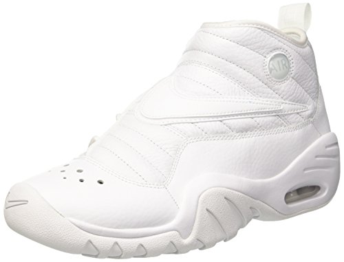Nike Air Shake Ndestrukt Mens Hi Top Basketball Trainers 880869 Sneakers Shoes (UK 11 US 12 EU 46, White White White 101)