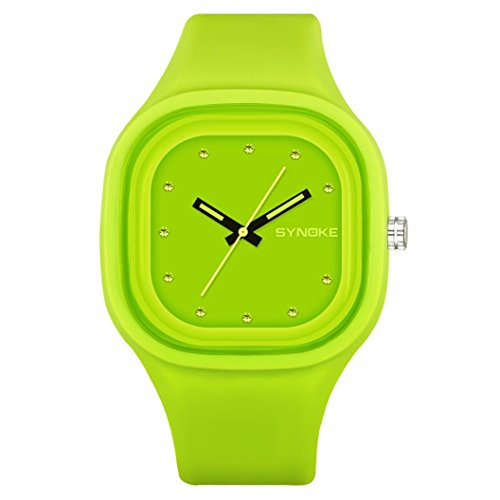 Price comparison product image Sport Watch,  Ikevan SYNOKE Children Boys Student Waterproof Sports Watch LED Digital Date Wristwatch (Green)