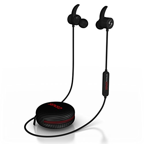 Senso Bluetooth Headphones, Wireless v4.1 Sports Sweatproof Workout Running Magnetic Earbuds Secure Fit Noise...