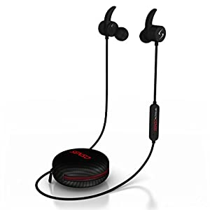 Senso Bluetooth Headphones, Wireless v4.1 Sports Sweatproof Workout Running Magnetic Earbuds Secure Fit Noise Cancelling Headset Mic Workout Gym Premium HD Sound Cordless Earphones