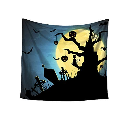 UOKNICE Halloween Printing Square Decorative Tapestry Beach Throw Round Towel Yoga Mat