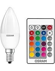 OSRAM LED Star + Classic B RGBW LED-lampa i ljusform med E14 bas / dimbar och fjärrstyrd färgändring / ersättning för 25 watt/varmt vit - 2700 Kelvin / förpackning med 1
