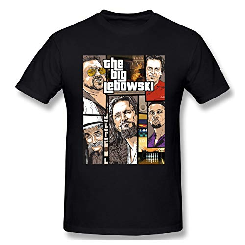 V-moni Men's The Jesus The Big Lebowski Tee Short Sleeve Cotton T Shirt 4XL Black -