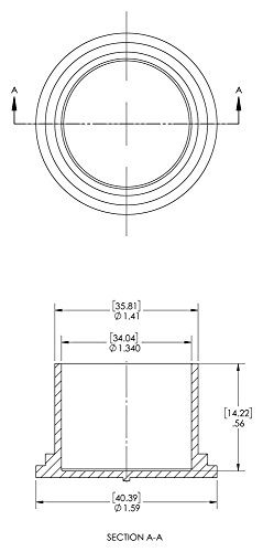 Caplugs 99190925 Cap for Threaded Connectors, Plastic, To Cap Nominal Thread Size 1-3/8'', EC-22, Red (Pack of 500) by Caplugs (Image #1)
