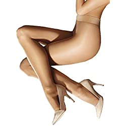 Marilyn Naked Luxe Silky Tights 40 Denier Tights Pantyhose (Nude, XL Plus)