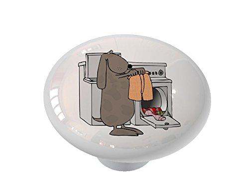 - Laundry Dog Ceramic Drawer Knob