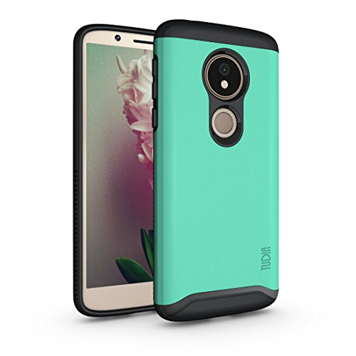Moto G6 Play Case, TUDIA Slim-Fit Heavy Duty [Merge] Extreme Protection/Rugged but Slim Dual Layer Case for Motorola Moto G6 Play (Mint)