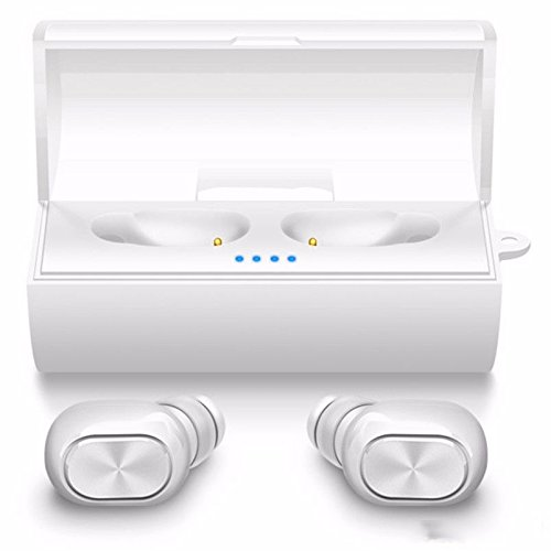 True Wireless Bluetooth Earbuds,Mini Invisible In-ear Headphones Dual Stereo Noise Cancelling Earphones Surround Sound Headhone Cordless Noise Cancelling Headset For iPhone Samsung Motorola LG (white)