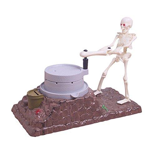 Pawaca Skeleton Ghosts Push Grinding Money Bank Saving Box, Skull Piggy Bank Coin Bank With Voice Halloween/Christmas/Birthday Gift For (Creepy Halloween Songs To Sing)