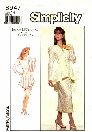 Simplicity 8947 Sewing Pattern Misses Jessica McClintock Dress Size 14 - Bust 36 -
