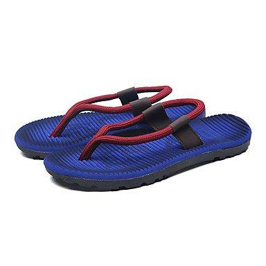 SHOES-XJIH&Nuovo arrivo uomini pantofole flip-flops comfort delle calzature in pelle Casual SCARPE Indoor tacco piatto 2 ColorWalking UE39-43,marrone chiaro,US8 / EU40 / UK7 / CN41